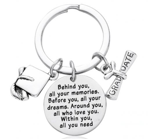 Geslaagd sleutelhanger - sleutelhanger - cadeau geslaagden - Einde school cadeau - Graduate - Sleutelhanger - Bella Kids - cadeau