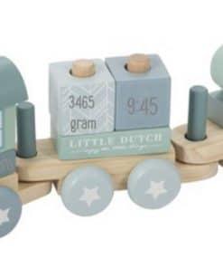 Little dutch trein blauw - Gepersonaliseerd little dutch trein roze - gepersonaliseerd - Gepersonaliseerd cadeau - Kraam cadeau - Naam cadeau - Geboorte cadeau