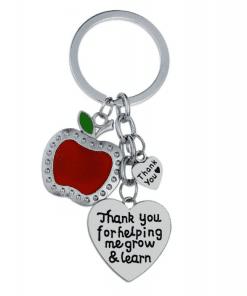 Einde schooljaar bedankje - sleutelhanger thanks - juffendag cadeau - Bedankt dat je me helpt groeien - Dankje wel juf - bella Kids