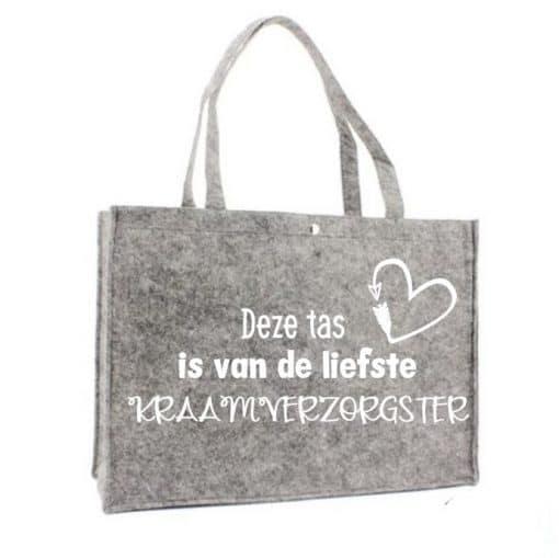 Shopper, gepersonaliseerde shopper, gepersonaliseerd boodschappentas, kraamverzorgster tas - Cadeau kraamverzorgster