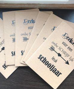 notitieboekje-bedankt-juf-meester-a5 - Notitieboekje - einde schooljaar bedankje - Juffendag