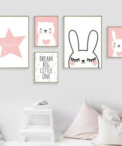 Canvas posters meisjes kamer - slaapkamer decoratie