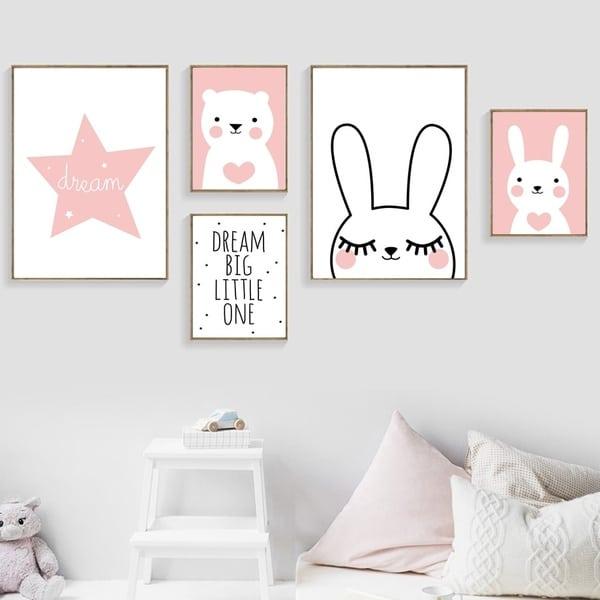 Verwonderend Canvas posters meisjes kamer - slaapkamer decoratie ET-19