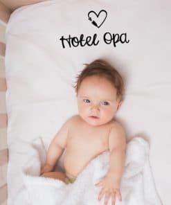 Hotel opa hoeslaken - Moederdag cadeau - Vaderdag cadeau - Hotel opa en oma - Cadeau voor opa en oma