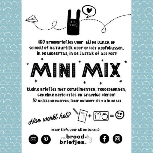 Brood briefjes, mini mix