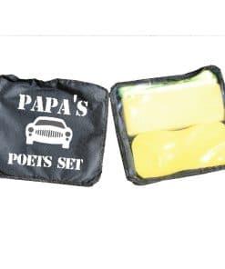 Papa's - opa's poets set - auto was set vaderdag cadeau - Cadeau opa - Cadeau papa - Gepersonaliseerd cadeau