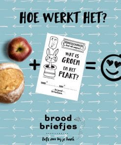 Brood briefjes, abc set