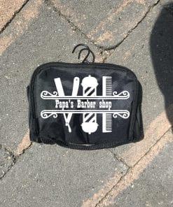 Toilet tas - Mama's tas - Papa's barbershop - Vaderdag cadeau - Cadeau papa - Cadeau opa - gepersonaliseerd cadeau