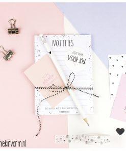 Notitie setje - Notitie blok + Potlood + Kaartje - Oma - Mama, Cadeau moederdag, Moederdag cadeau, Cadeau voor mama - Cadeau voor oma