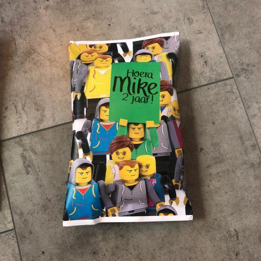 Lego - Traktatie zakje - Chips zakje,Trakteren op school - Traktatie chipszakje - Chipzakje gepersonaliseerd - Traktatie