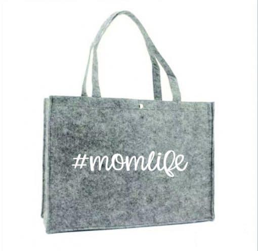 Boodschappen tas - #momlife - Moederdag cadeau - Cadeau voor mama - Gepersonaliseerd cadeau