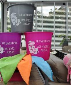 Emmer - Met water en sop - Lost mama of oma alles op - Moederdag cadeau - schoonmaak emmer - Schoonmaken - Cadeau voor mama