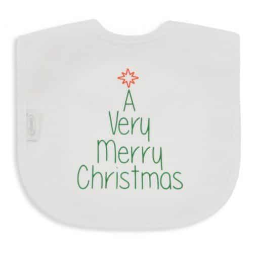 Slab - A Very Merry Christmas groot - Baby slabbetjes - Slabbetje - Slabben - Gepersonaliseerd met tekst - Kraam cadeau - Gepersonaliseerde slabben