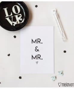 Mr & Mr || Ansichtkaart