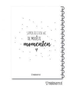 Mooie momentenboek - Gepersonaliseerd met naam