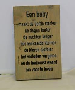 Steigerhouten bord - Baby