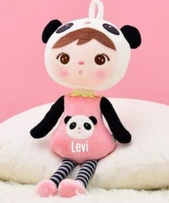 Knuffel pop - Panda gepersonaliseerd met naam - Geboorte cadeau met naam - Naam cadeau - Kraamcadeau met naam