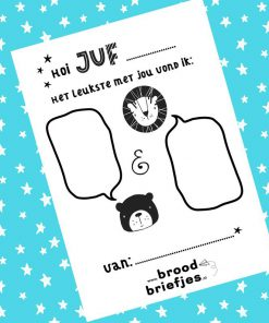 Juffen en Meestersfeest - Bedankt Juf - Bedankt Meester - Leuke Kaartjes van BroodBriefjes, einde schooljaar cadeaus, Einde school jaar - Juffen dag cadeau - Cadeau voor de juf - Cadeau voor de meester - Bedankt kaartje einde school jaar