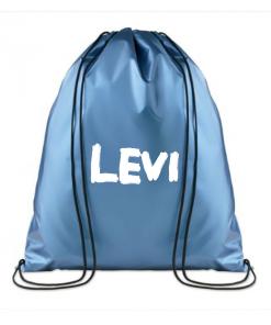 KINDERGYMTAS |Metallic blue|Gepersonaliseerd met naam gepersonaliseerde tas, schooltas met naam, tas met naam, rugtas met naam, gymtas met naam