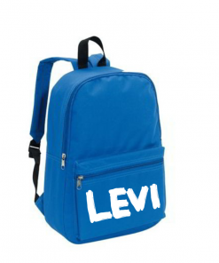 School rug tas - blauw - Gepersonaliseerd,gepersonaliseerde tas, schooltas met naam, tas met naam, rugtas met naam, gymtas met naam