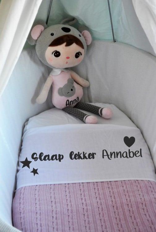 Ledikant laken - Slaap lekker & Naam