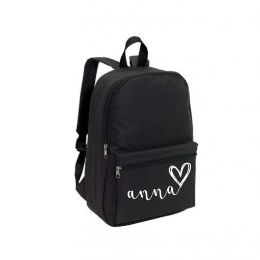 School rug tas - zwart - Gepersonaliseerd
