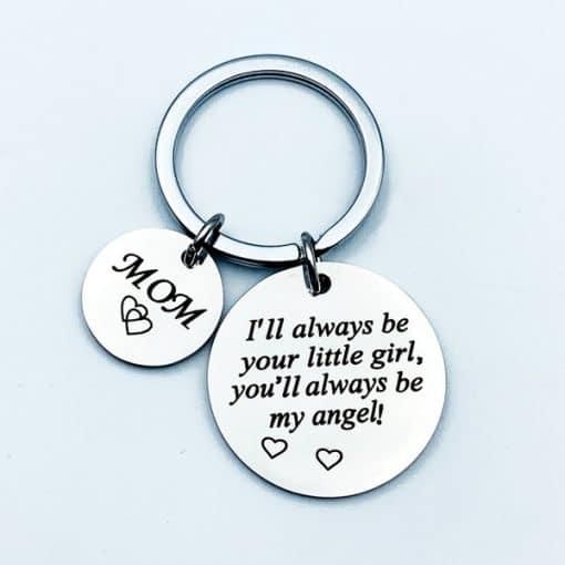 I'll Always be your little girl. You'll always be my angel - Sleutelhanger