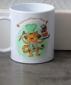 Kindermok - Restaurant papa en mama,Kinderservies, Serviesgoed, Cadeau papa en mama , Moederdag cadeau , Vaderdag cadeau