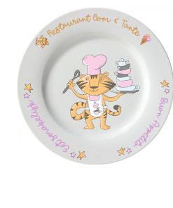 Kinderbord - Restaurant oom & tante - Kinderservies met naam - Gepersonaliseerd kinderbeker - Kinderbeker met naam - Kraam cadeau - Cadeau oom en tante