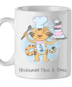 Kinderbeker - Restaurant Opa & Oma, kinderbeker, Beker met naam , kinderservies, Beker kind, Kinderservies gepersonaliseerd, gepersonaliseerde cadeaus