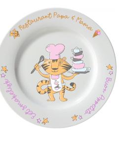 Kinderbord - Restaurant Papa & Mama - Kinderservies met naam - Gepersonaliseerd kinderbeker - Kinderbeker met naam - Kraam cadeau - Cadeau opa en oma