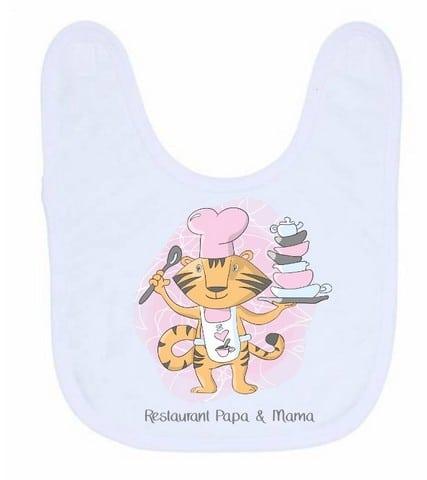 Slab - Restaurant Papa & Mama, Restaurant, Gepersonaliseerde slab, Slab met naam, Kraam cadeau, Geboorte cadeau, Kinderslabben