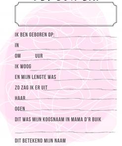 Mijn eerste jaar - Invulboek - Meisje - Neushoorn