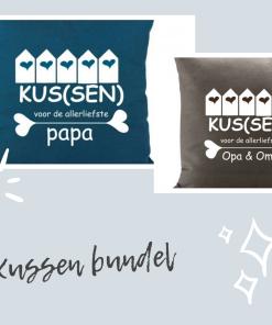 Kussen bundel - Kussen voor opa en oma - Kussen voor papa