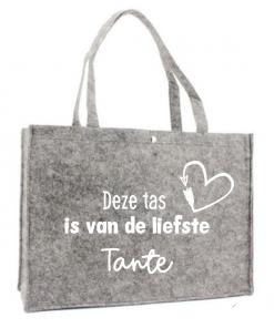 Boodschappen tas - Tante - Shopper - Voor de liefste