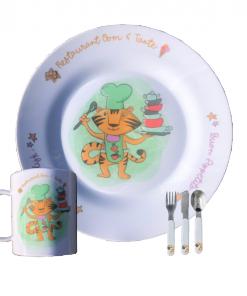 Serviesset - Restaurant oom en tante,Vaderdag cadeau - Moederdag cadeau - Kinderservies - Cadeau opa en oma