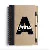 Notitieboek met pen - Gepersonaliseerd met naam, school spullen, gepersonaliseerd cadeau, Naam cadeau, Naam kado