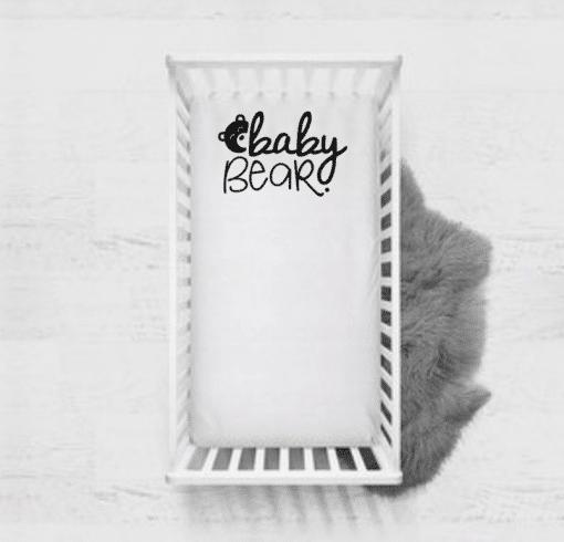 Ledikant hoeslaken - Baby bear - baby beddengoed - Baby kamer accessoires - Beddengoed baby - Kinderen slaapkamer - Bella Kids