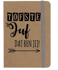 Notitieboekje a6 - Tofste juf dat ben jij!- Einde school jaar cadeau - Cadeau schooljaar - Juffen dag cadeau - Cadeau voor de juf
