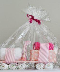 Luiertrein - Meisje - Kraam cadeau - Gepersonaliseerd met naam