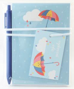 Kadoset | aju paraplu - Einde school jaar cadeau - Cadeau schooljaar - Juffen dag cadeau - Cadeau voor de juf - Cadeau meester