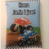 Traktatie Monstertruck - Chipszakje - Gepersonaliseerde schooltraktaties - Traktatie met naam - Lego traktatie - Trakteren op school