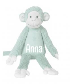 Lagoon Monkey Mickey - Met naam - Happy Horse - Gepersonaliseerd kraamcadeau - Geboorte cadeau met naam - Naam cadeau - Gepersonaliseerd