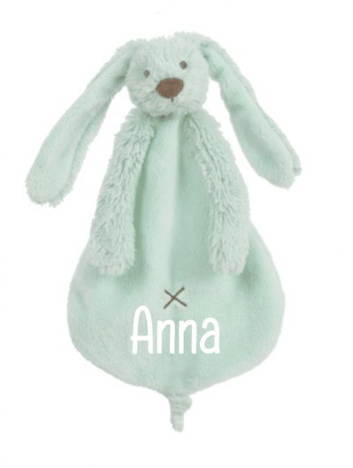 Happy Horse - Lagoon Rabbit Richie Tuttle - Met naam - Gepersonaliseerd kraamcadeau - Geboorte cadeau met naam - Naam cadeau - Gepersonaliseerd