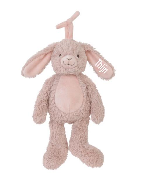 Rabbit Rosi Musical - Met naam - Happy Horse - Gepersonaliseerd kraamcadeau - Geboorte cadeau met naam - Naam cadeau - Gepersonaliseerd