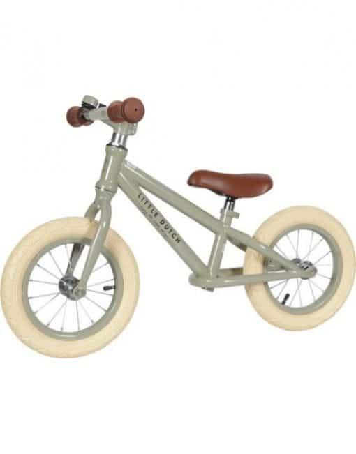 Little dutch loop fiets Olive Green - Gepersonaliseerd met naam - Gepersonaliseerde fiets auto - Loop auto met naam - Kraam cadeau - Geboorte cadeau