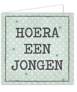 Ansichtkaarten Hoera een jongen - Ansichkaart - Geboorte - Kraam cadeau - Gepersonaliseerd cadeau - Naam cadeau