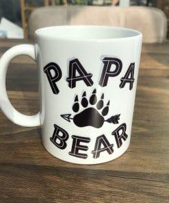 Koffie mok - Papa Bear - Cadeau voor mama - Mama cadeau - Moederdag cadeau - Koffiemok - Gepersonaliseerd - Vaderdag cadeau