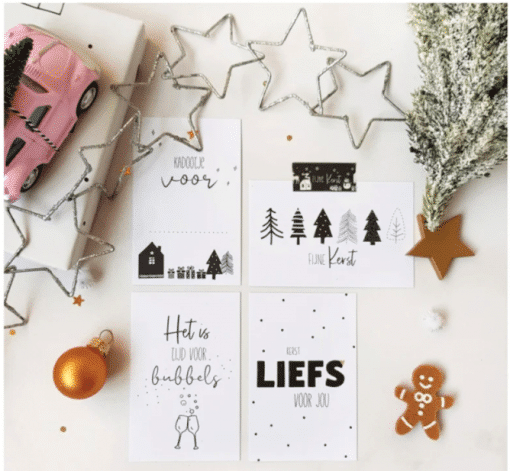 Kadootje voor .... || Mini-kaart|| Kerst - Bella Kids - Gepersonaliseerd cadeau - Inpakken - Kerst inpakken - Gepersonaliseerd cadeau