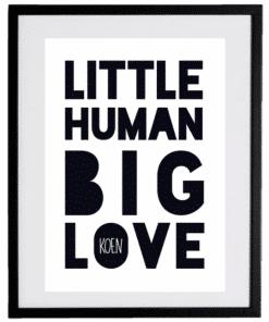 Naamposter - Little Human Big Love - naamposter, geboorte poster, geboorteposter baby, geboorteposter maken, naamposter baby,